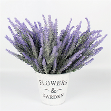 high quality decorative intensive artificial wedding plastic lavender flower cheap wholesale artificial flower
