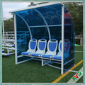 Aluminium Alloy Curved Frame Soccer Dugout With Wheels, Substitute Bench Seat