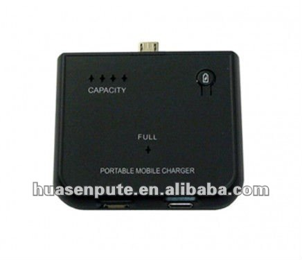 External Portable Emergency Battery Charger For Samsung Galaxy S1 S2 S3 1900mAh