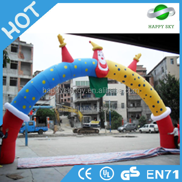 Best price advertising equipment giant helium ballon shape like rainbow gate for wedding event inflatable arch for selling