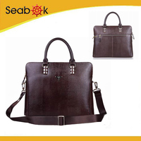 custom leather office bag for men .Alibaba trusted supplier