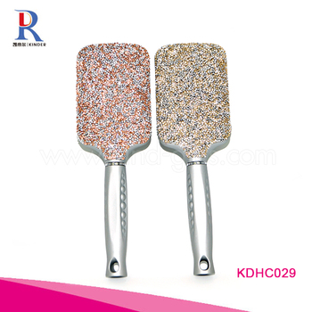 2018 hot rhinestone paddle brush most popular design glitter Hair Brushes