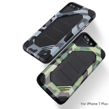 Hybrid tpu pc camouflage case for iphone 7 plus mobile case cover hard 2 in 1