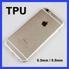 Ultra-thin transparent tpu 0.3mm shell cellphone case soft tpu case for iphone 6