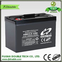12v 100ah agm deep cycle batterie solaire