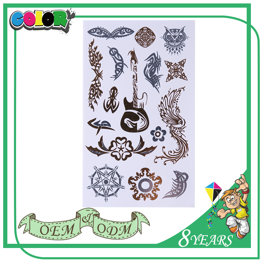 New Product Super Quality High Quality Material Oem Design Fashion Style Body Sticker Tattoos
