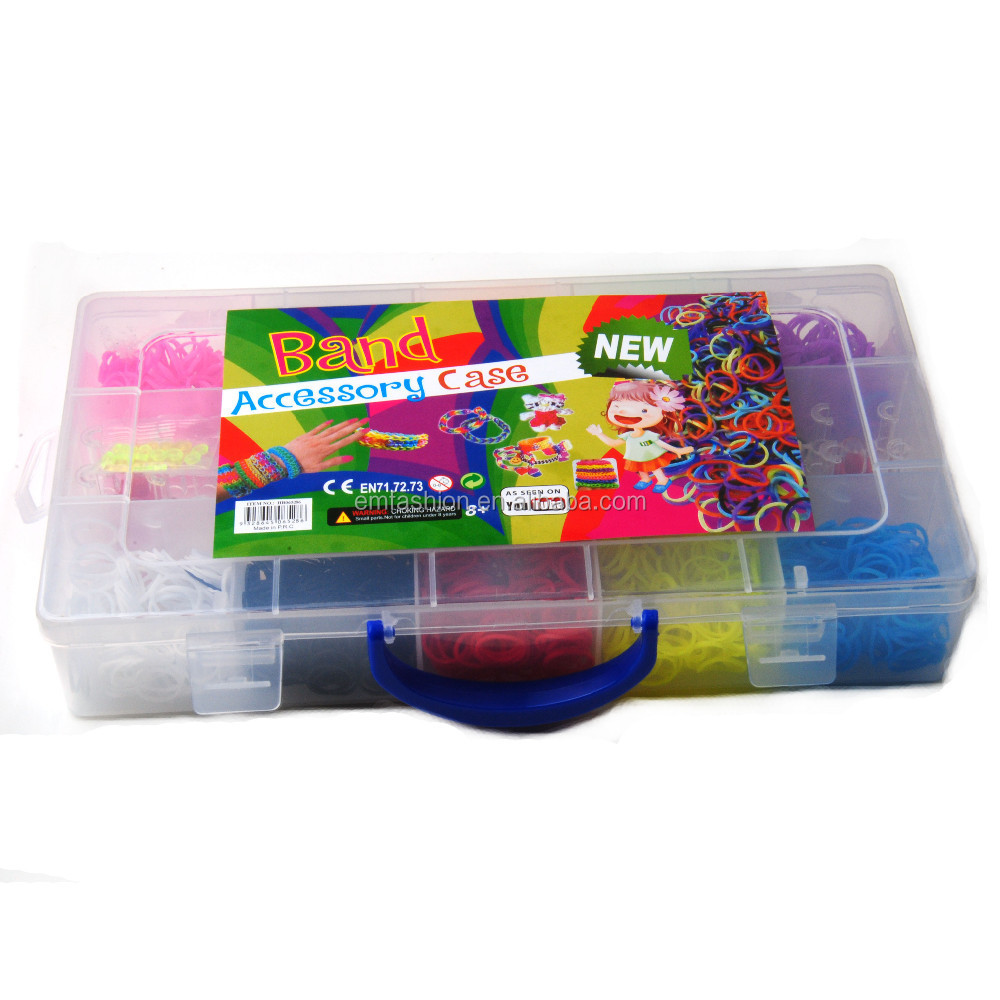 Set Large Quantity Colorful Fun Diy <strong>rubber<