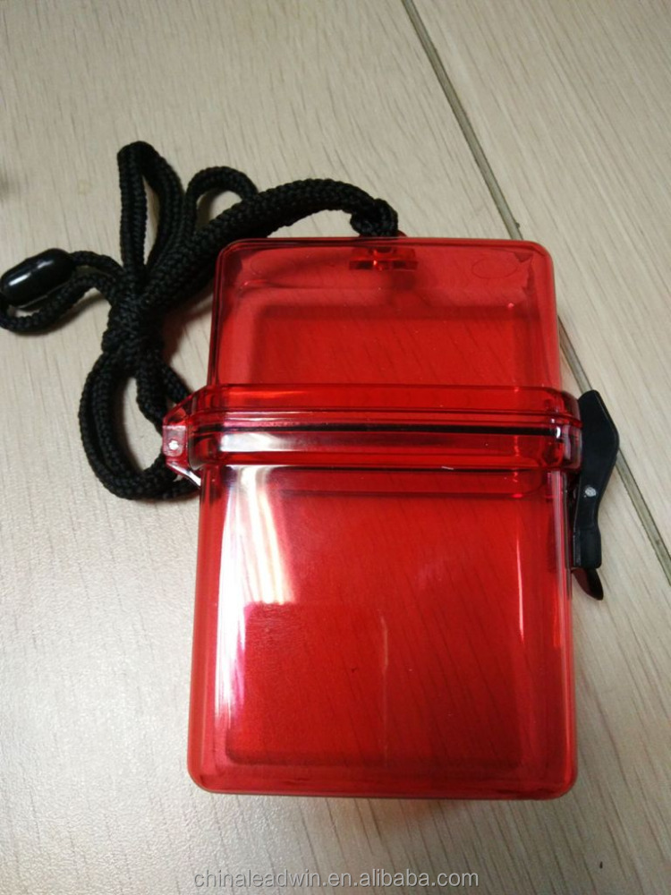 2016 New Product Mini Seal Waterproof Plastic First Aid Box Used in Water