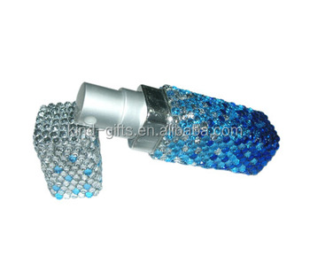 Large sales bling bling mix color rhinestone design metal plastic perfume bottle