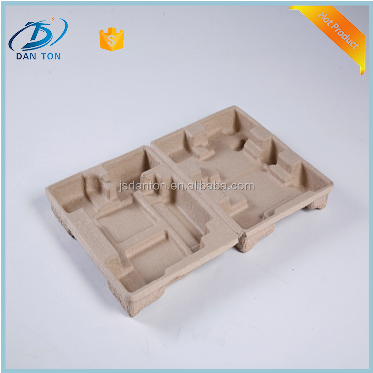Waterproof customized paper pulp tray for electronic product's packing