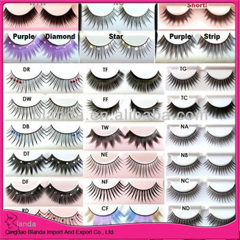 pair natural false eyelashes