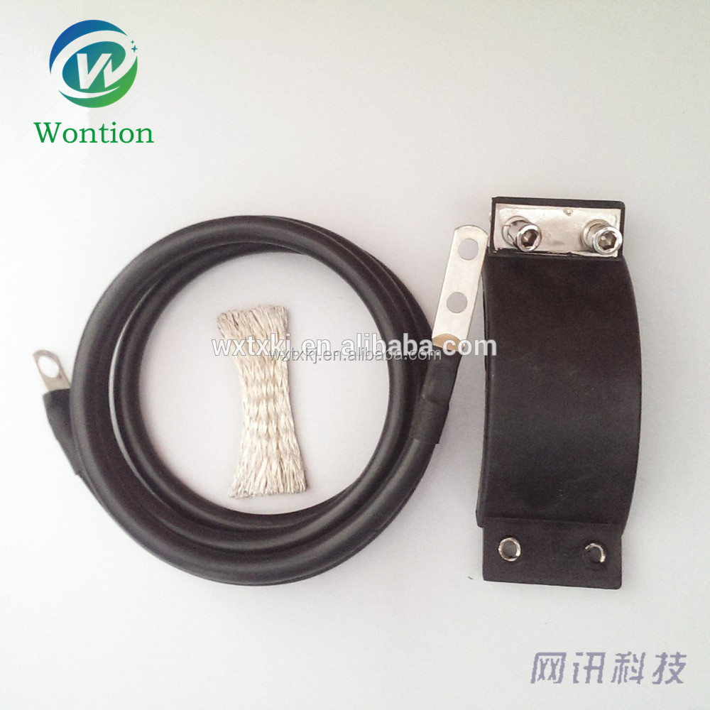 "high quality 7/8"" buckle grounding kit with 3M weatherproof tape/ 1/2"" grounding kit/ feeder clamp"