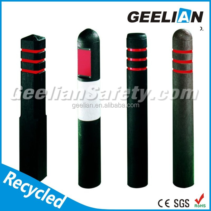Safty Round street road recycled plastic Bollard