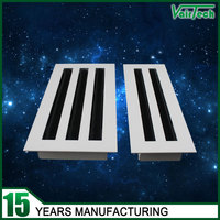 Air conditioning linear slot adjustable air diffuser ventilation ceiling grilles
