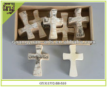 cross shape home decorative wooden crafts