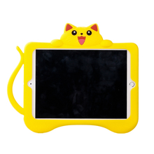 2017 cute silicone case for new ipad 9.7,stand case kids 360 degrees with handles