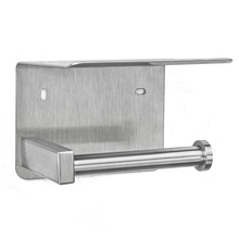 bathroom accessory decorative stainless steel toilet paper holder with mobile phone shelf