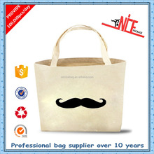 Best sale fashional organic cotton long handled small bag for shopping