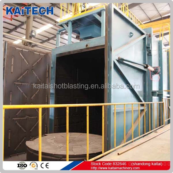 Q36/Q76 trolley type shot blasting machine manufacturer for metal surface cleaning