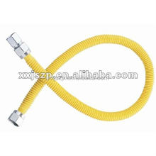 "CSA 13/8""ID*1/2""OD*MM-24"" Yellow Coated Stainless Steel Gas Hose"