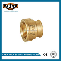 APEX Brass Female Threaded Reducing Straight Socket Coupling