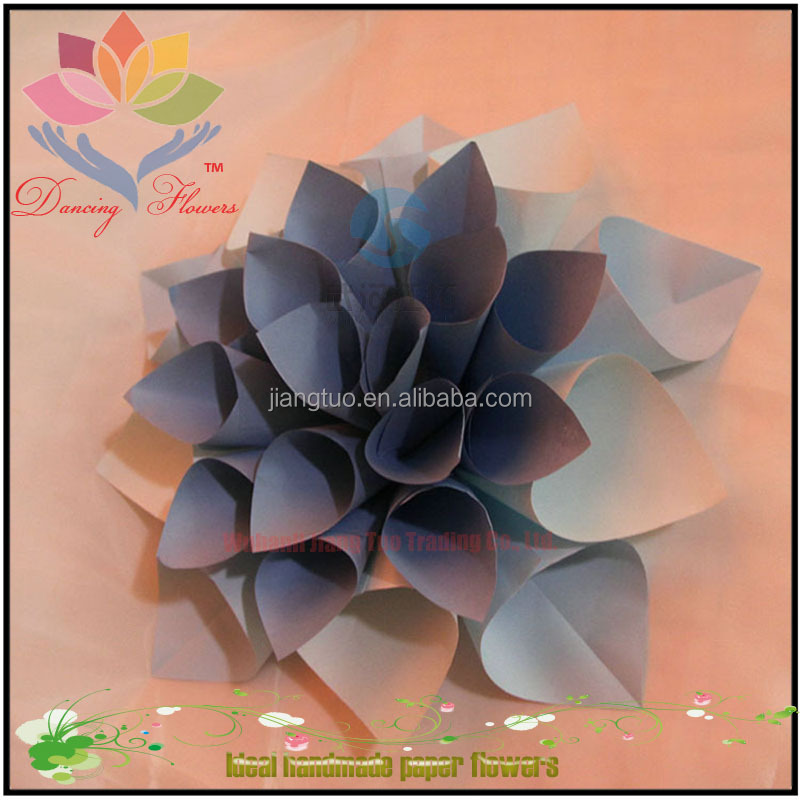 Good quality wholesale cheap artificial large foam paper flowers for wall decoration