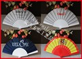 Cheap fabric hand held plastic fan