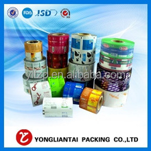 logo printing laminating film roll plastic packaging for noodles