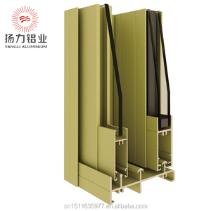 6063 T5 aluminium profile powder coated aluminum sliding windows for balcony