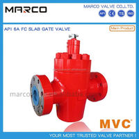 Professional supply manual handwheel or ball screw operation api6a standard slab fc gate valve