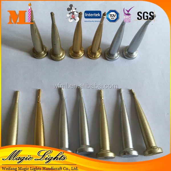 High Quality Decoration Supplies Gold And Silver Bullet Birthday Candle