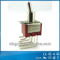 mini momentary toggle switch 3 pole double throw switch