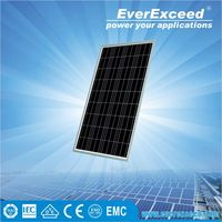 EverExceed 100W Polycrystalline Solar Panel for solar home system with Grade A solar cell