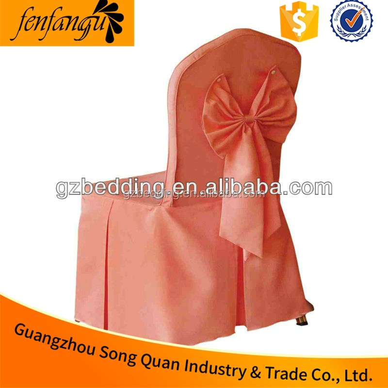 Wholesaler 100% Polyester Restaurant, Wedding Banquet Hall Chair Cover