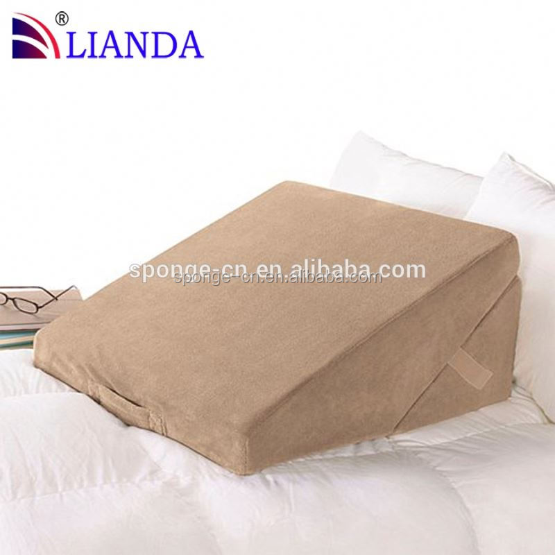 wedge pillows, wedge reading pilow, wedge shaped inflatable pillows