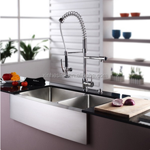 cUPC American Handmade Stainless Steel SUS 304 16G/18G Farmhouse Kitchen Sink with Apron Front