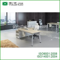 new design high-end executive table office desk for manager aluminum frame wooden table