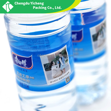 Custom printing mineral water bottle adhesive clear labels,roll plastic bottle sticker label