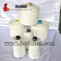 short staple fiber 100% spun polyester yarn for sewing thread,weaving,knitting