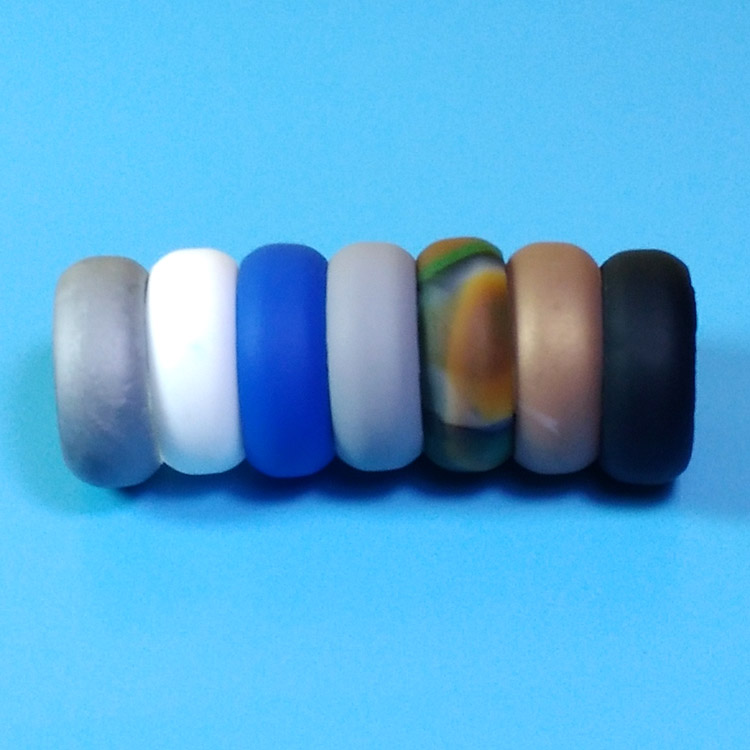 Mens Silicone Rubber Wedding Rings Finger Rings 7 Colors Pack
