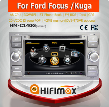 Hifimax 2 din 7 inch car dvd player for ford focus car gps navigation WITH A8 CHIPSET DUAL CORE 1080P V-20 DISC WIFI 3G