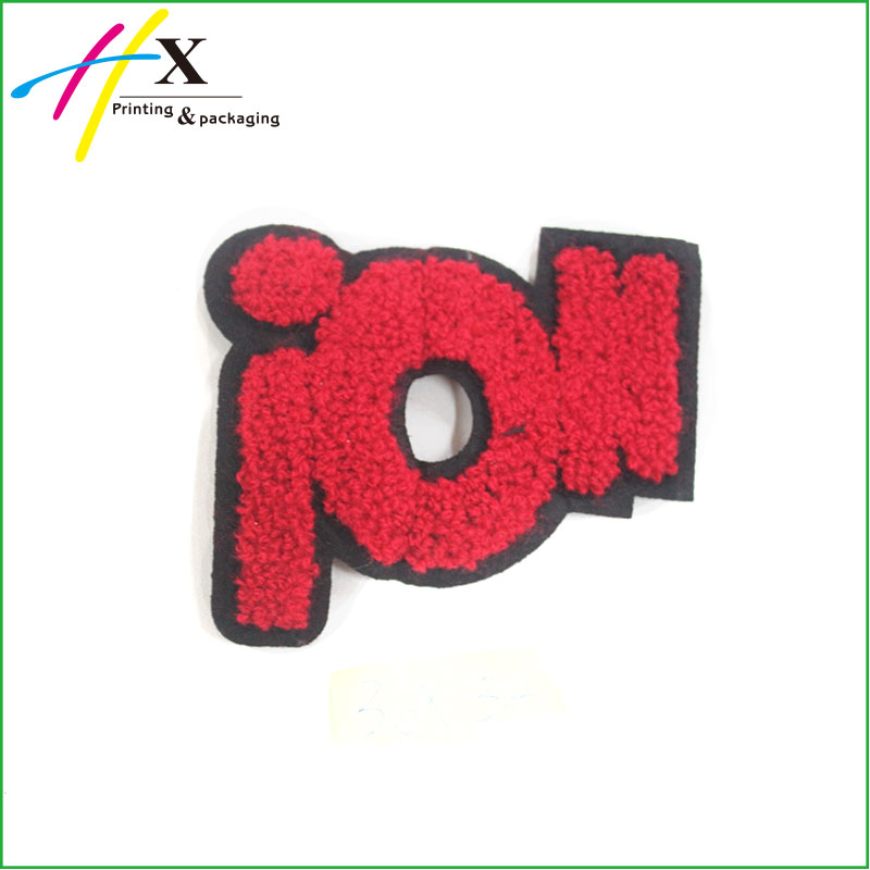 Custom Heat Press Embroidered Letter Iron On Chenille Patches For Clothing