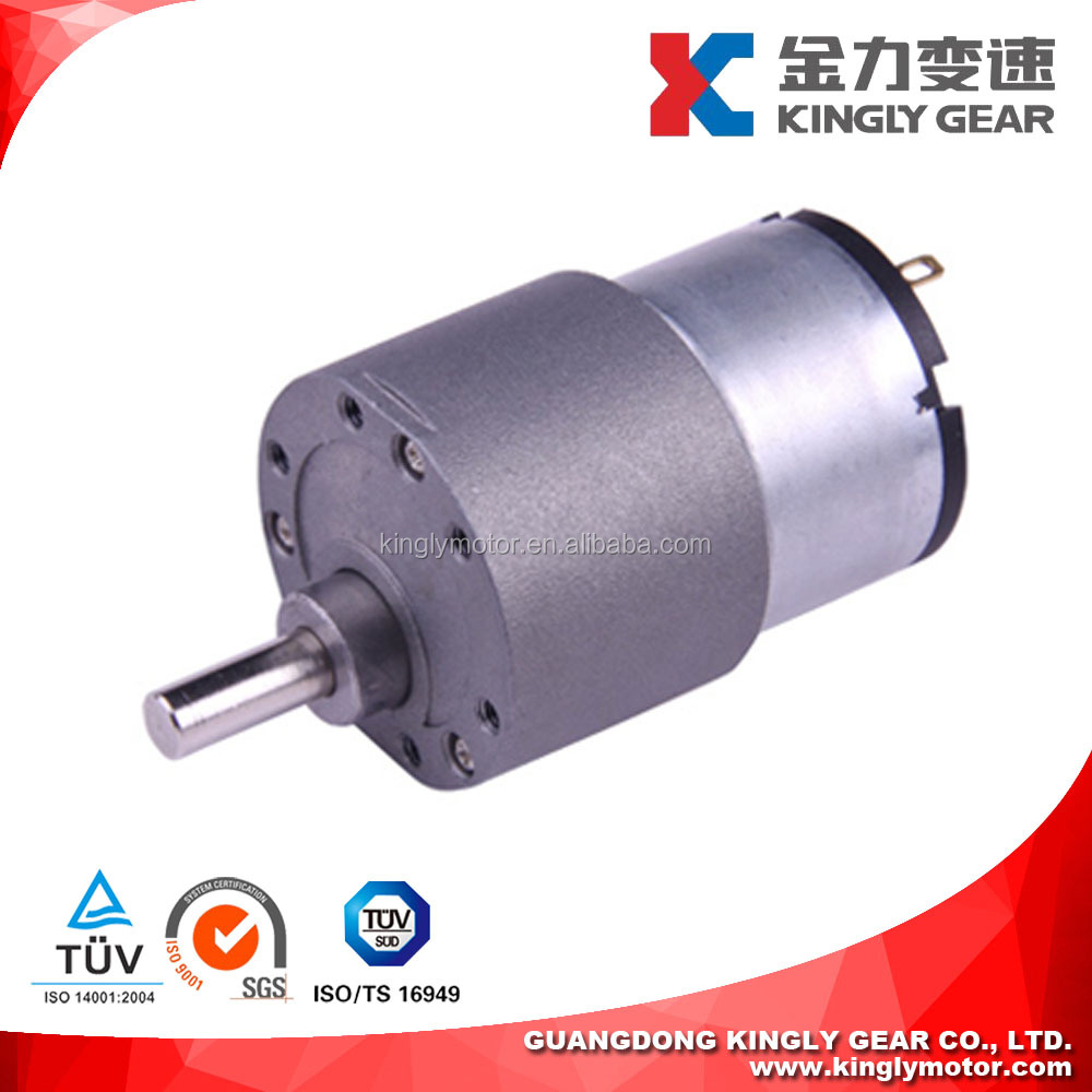 Micro 1rpm Low Speed Robot Motor ,37mm Gearbox 12v DC Spur Gear Motor,12v 5w Gear Motor Manufacturers