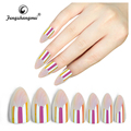 fengshangmei artificial false nail mermaid effect holographic nail tips