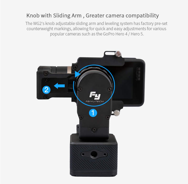 FeiyuTech New 3-Axis Wearable Black Gimbal with Water-proof for Action Cameras GoPr o 6/5/4/3+ / AEE/YI 4K
