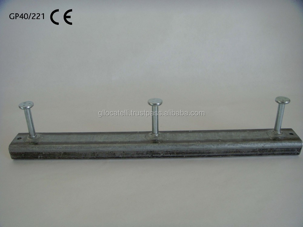 Anchor channel 40/22 - cast-in channels GP40/221 sendzimir galvanized mm 375 with 3 anchors