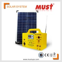 MUST 20W portable mini rechargeable home lighting solar power system for small house indoor solar energy system