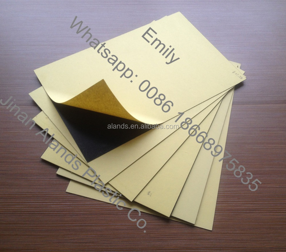 Hot sale white/black double-glued self adhesive pvc sheet for photo album