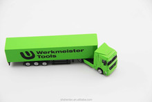 Scale 1:87, promotion gifts, die cast mini container truck model Werkmeister Tools