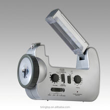 Crank dynamo radio lights
